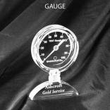 Gauge Shaped Acrylic Award/Paperweight