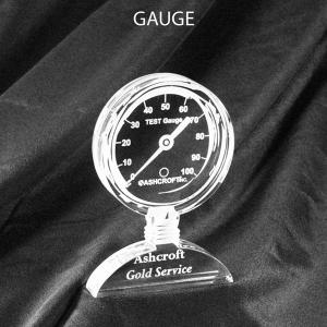 Gauge Shaped Acrylic Award/Paperweight