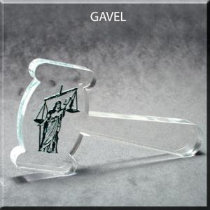 Gavel Shaped Acrylic Award/Paperweight