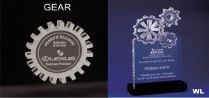 Gear Shaped Acrylic Award/Paperweight