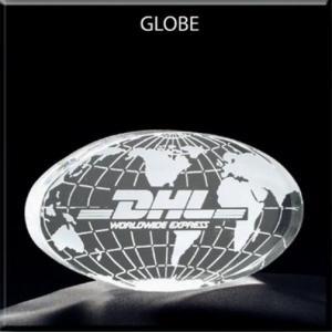 Globe/World Shaped Acrylic Award/Paperweight