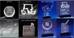 Golf Theme Shaped Acrylic Award/Paperweight