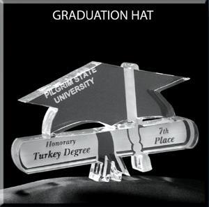 Graduation Cap Shaped Acrylic Award/Paperweight