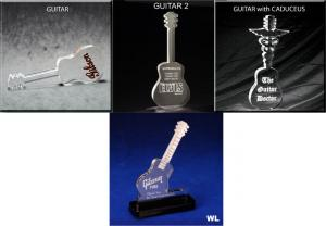 Guitar Shaped Acrylic Award/Paperweight