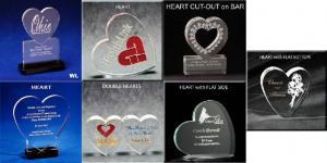 Heart Shaped Acrylic Award/Paperweight