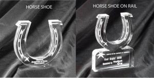 Horseshoe Shaped Acrylic Award/Paperweight