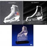 Ice Skate Shaped Acrylic Award/Paperweight
