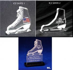 Ice Skate Shaped Acrylic Award/Paperweight