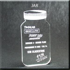 Jar Shaped Acrylic Award/Paperweight