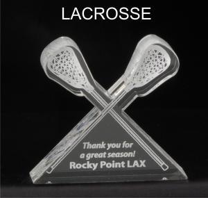 Lacrosse Stick Shaped Acrylic Award/Paperweight