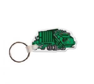Garbage Truck Soft Vinyl Keychain