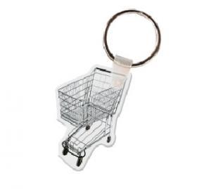 Shopping Cart Soft Vinyl Keychain
