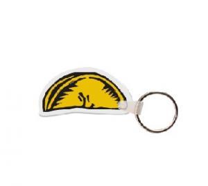 Lemon Wedge Soft Vinyl Key Tag