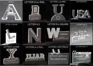Alphabet/Letters Shaped Acrylic Award/Paperweight