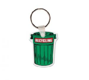 Recycling Can Soft Vinyl Key Tag