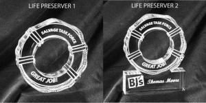 Life Preserver Shaped Acrylic Award/Paperweight