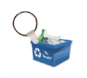 Recycling Bin Soft Vinyl Key Tag