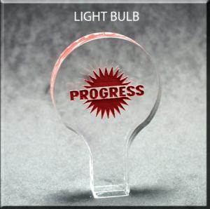 Light Bulb Shaped Acrylic Award/Paperweight
