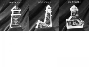 Lighthouse Shaped Acrylic Award/Paperweight