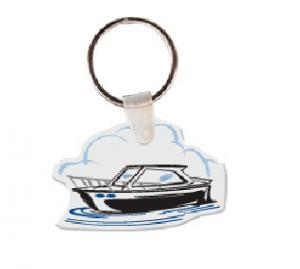Ski Boat Soft Vinyl Key Tag