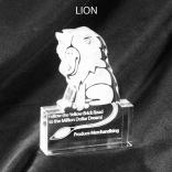 Lion Shaped Acrylic Award/Paperweight
