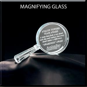 Magnifying Glass Shaped Acrylic Award/Paperweight