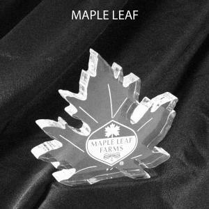 Maple Leaf Shaped Acrylic Award/Paperweight
