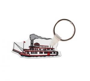 Steam Boat Soft Vinyl Key Tag