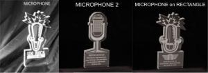 Microphone Shaped Acrylic Award/Paperweight