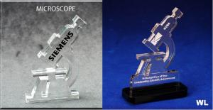 Microscope Shaped Acrylic Award/Paperweight