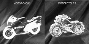 Motorcycle Shaped Acrylic Award/Paperweight