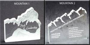 Mountain Shaped Acrylic Award/Paperweight