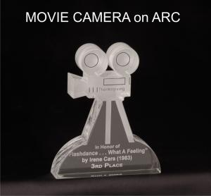 Movie Camera Shaped Acrylic Award/Paperweight