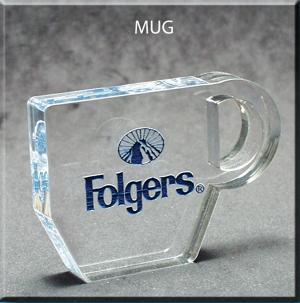 Mug Shaped Acrylic Award/Paperweight