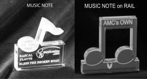 Music Note Shaped Acrylic Award/Paperweight