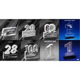 Number One/Numbers Shaped Acrylic Award/Paperweight