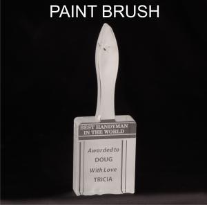 Paintbrush Shaped Acrylic Award/Paperweight