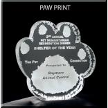 Paw Print Shaped Acrylic Award/Paperweight