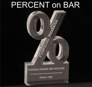 Percent Symbol Shaped Acrylic Award/Paperweight