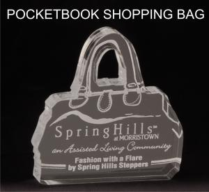 Pocketbook/Purse Shaped Acrylic Award/Paperweight