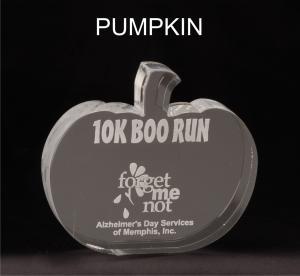 Pumpkin Shaped Acrylic Award/Paperweight