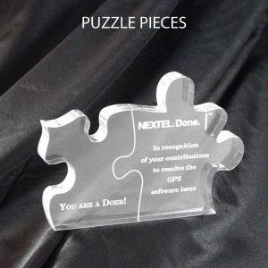 Puzzle Pieces Shaped Acrylic Award/Paperweight