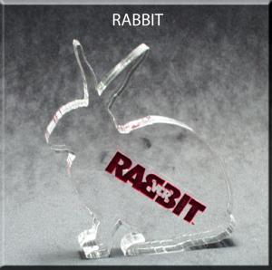 Rabbit Shaped Acrylic Award/Paperweight
