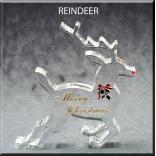 Reindeer Shaped Acrylic Award/Paperweight