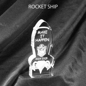 Rocketship Shaped Acrylic Award/Paperweight