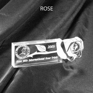 Rose Shaped Acrylic Award/Paperweight