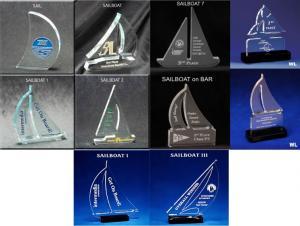 Sailboat Shaped Acrylic Award/Paperweight