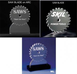 Saw Blade Shaped Acrylic Award/Paperweight