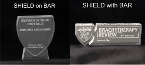 Shield Shaped Acrylic Award/Paperweight