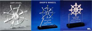 Ship's Wheel Shaped Acrylic Award/Paperweight